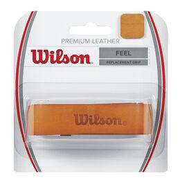 Premium Leather Replacement Grip braun
