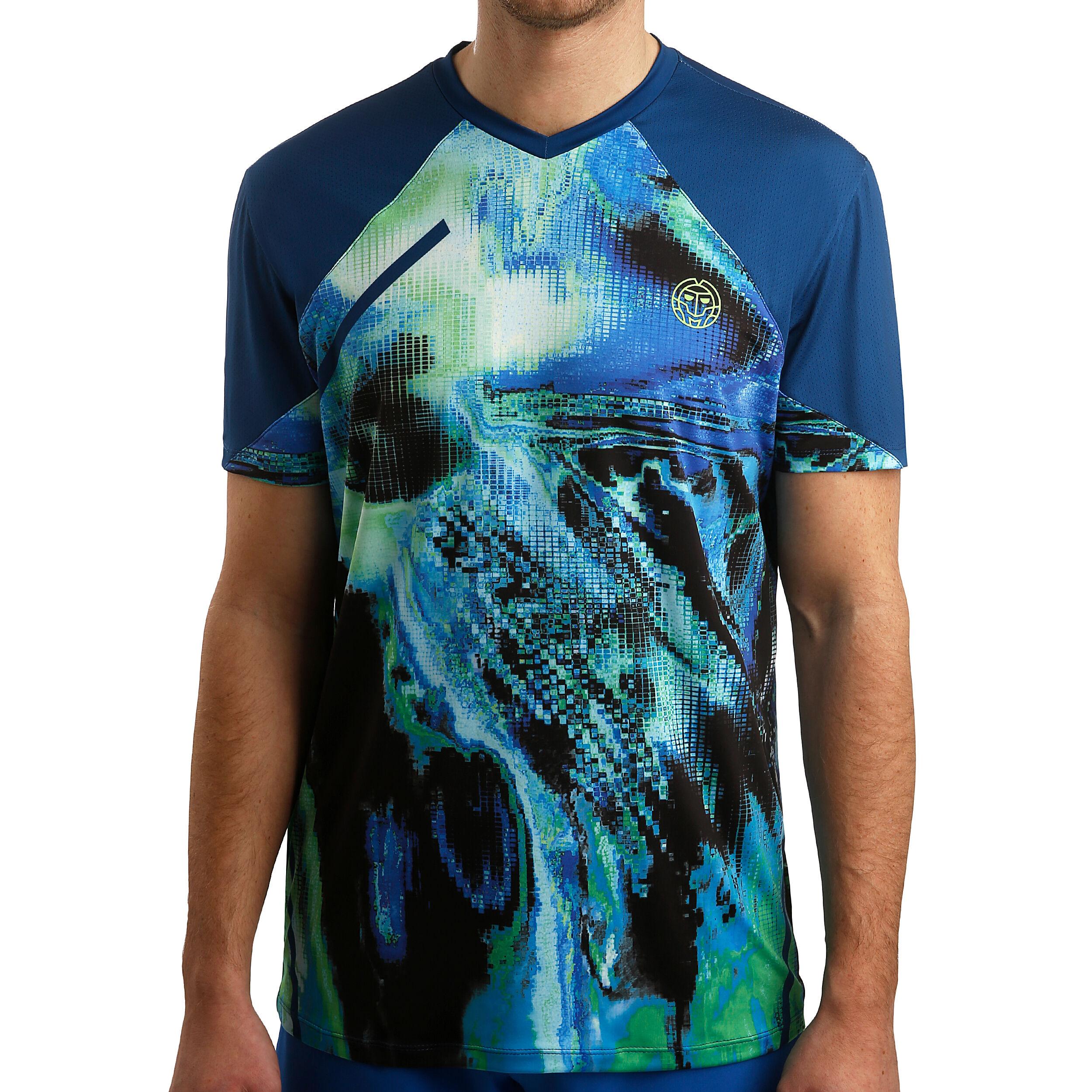 BIDI BADU Tai Tech V Neck T shirt Herrer Mørkeblå