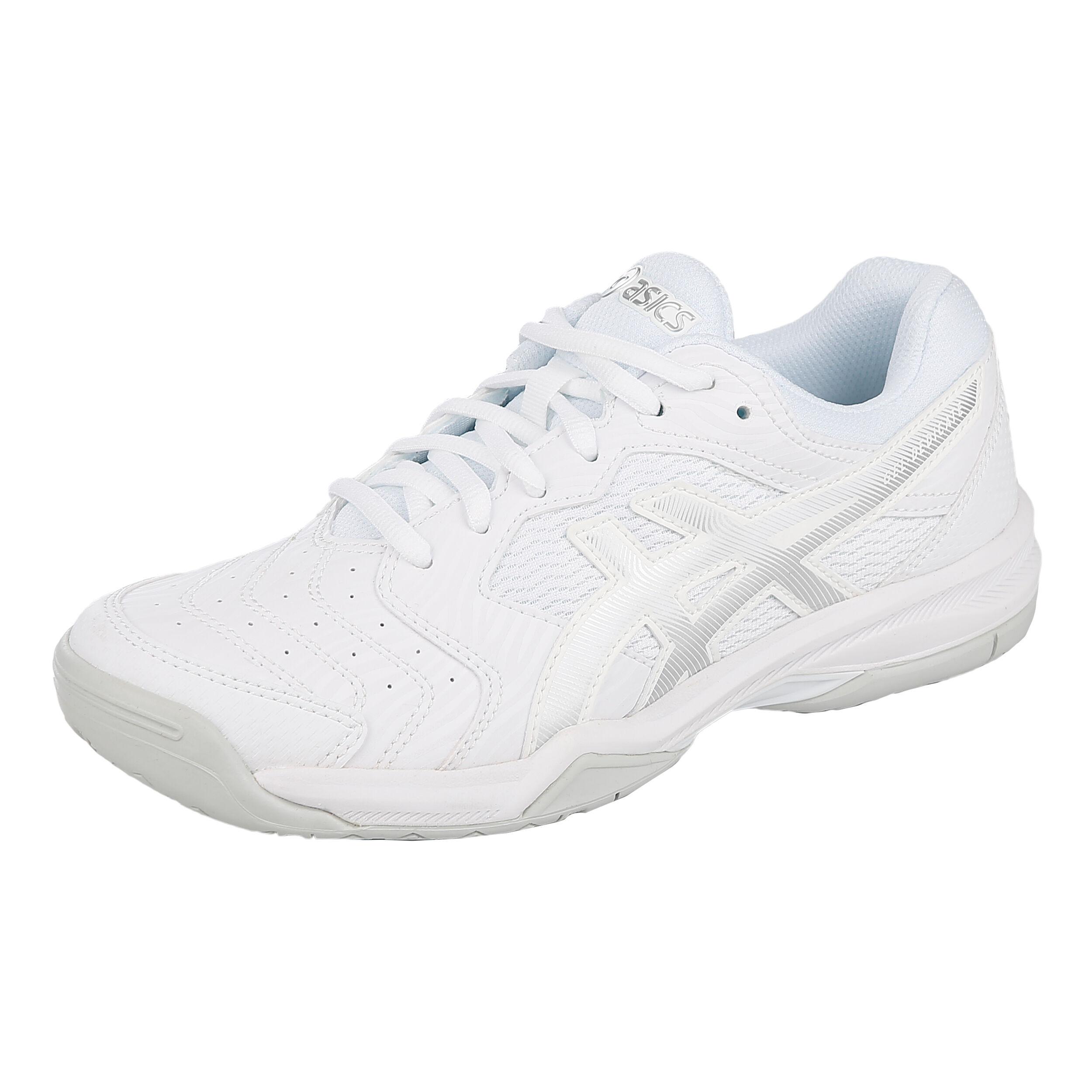 Asics Gel Dedicate 6 Allcourt sko Damer Hvid, Sølv køb
