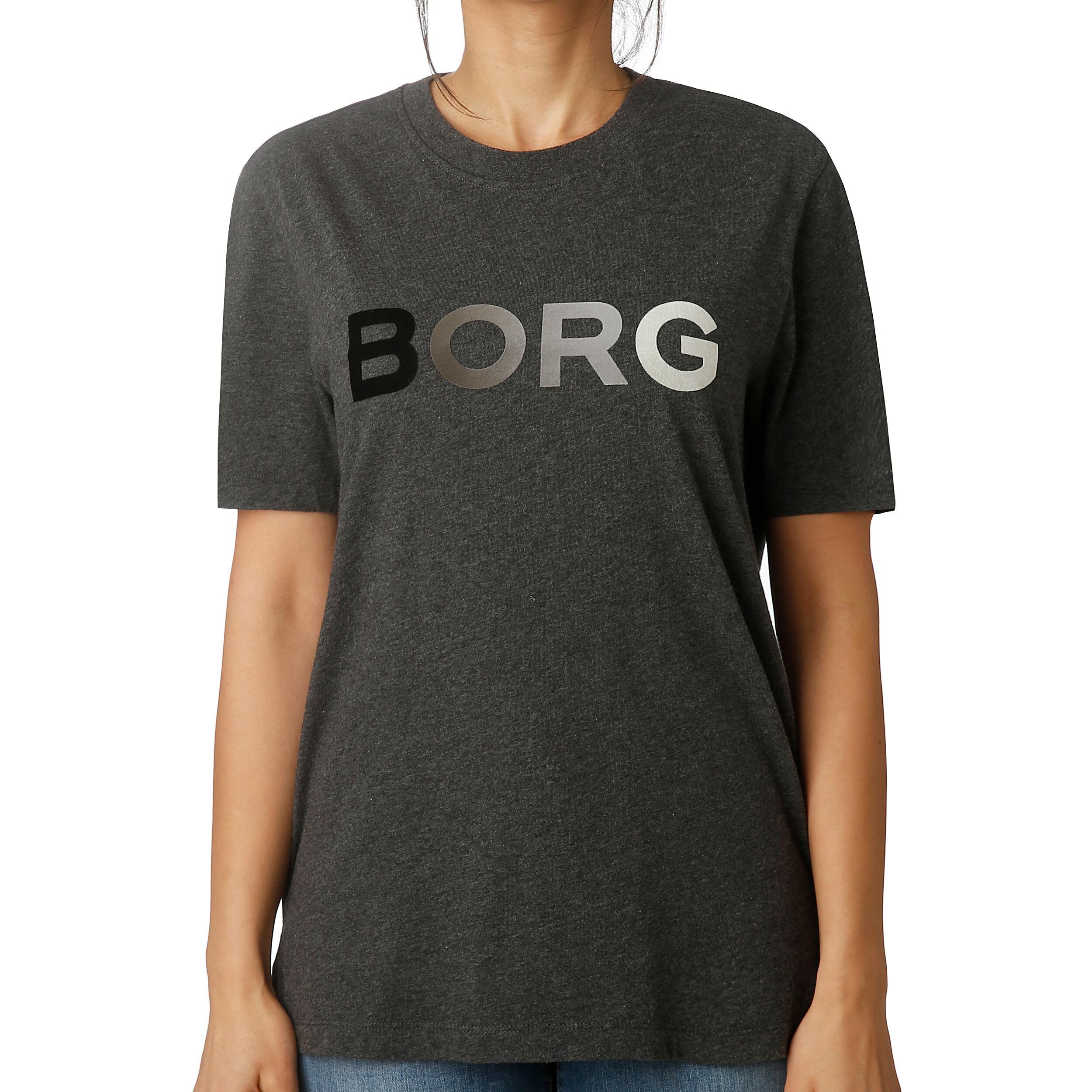 Sport T shirt Damer Mørkegrå, Sort