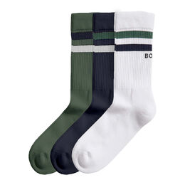 Double Stripe Ankle Crew Sock