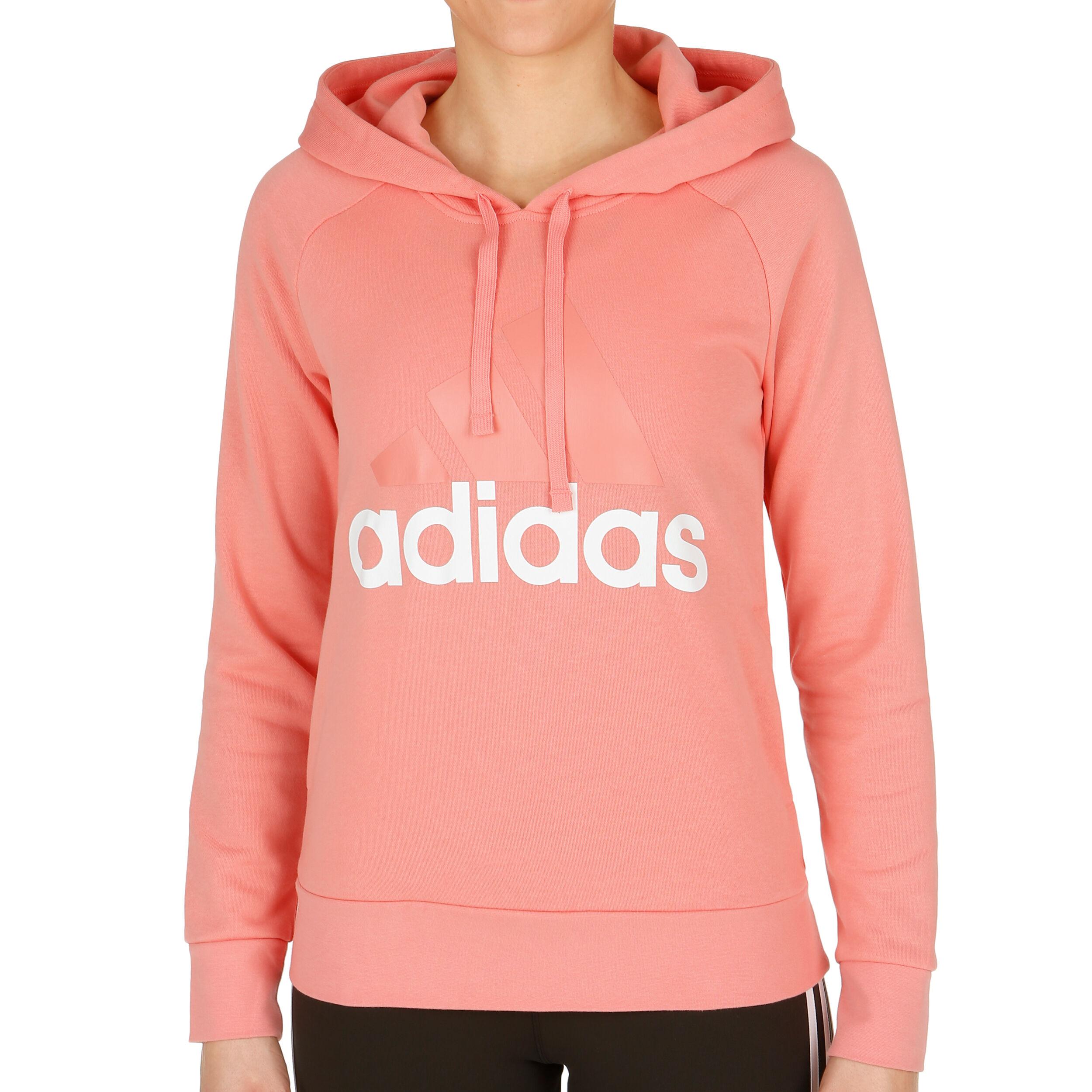 adidas Essentials Linear Huvtröja Damer Rosa köp online