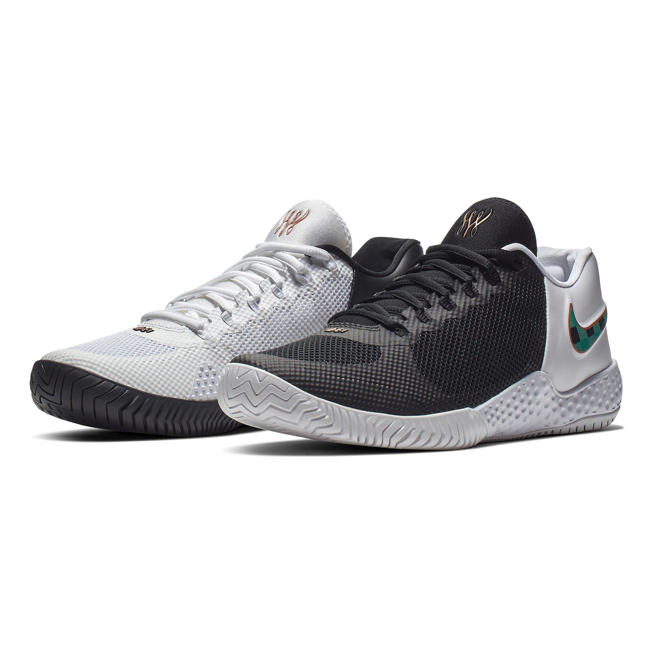 Nike Flare 2 HC Allcourt sko Damer Hvid, Sort