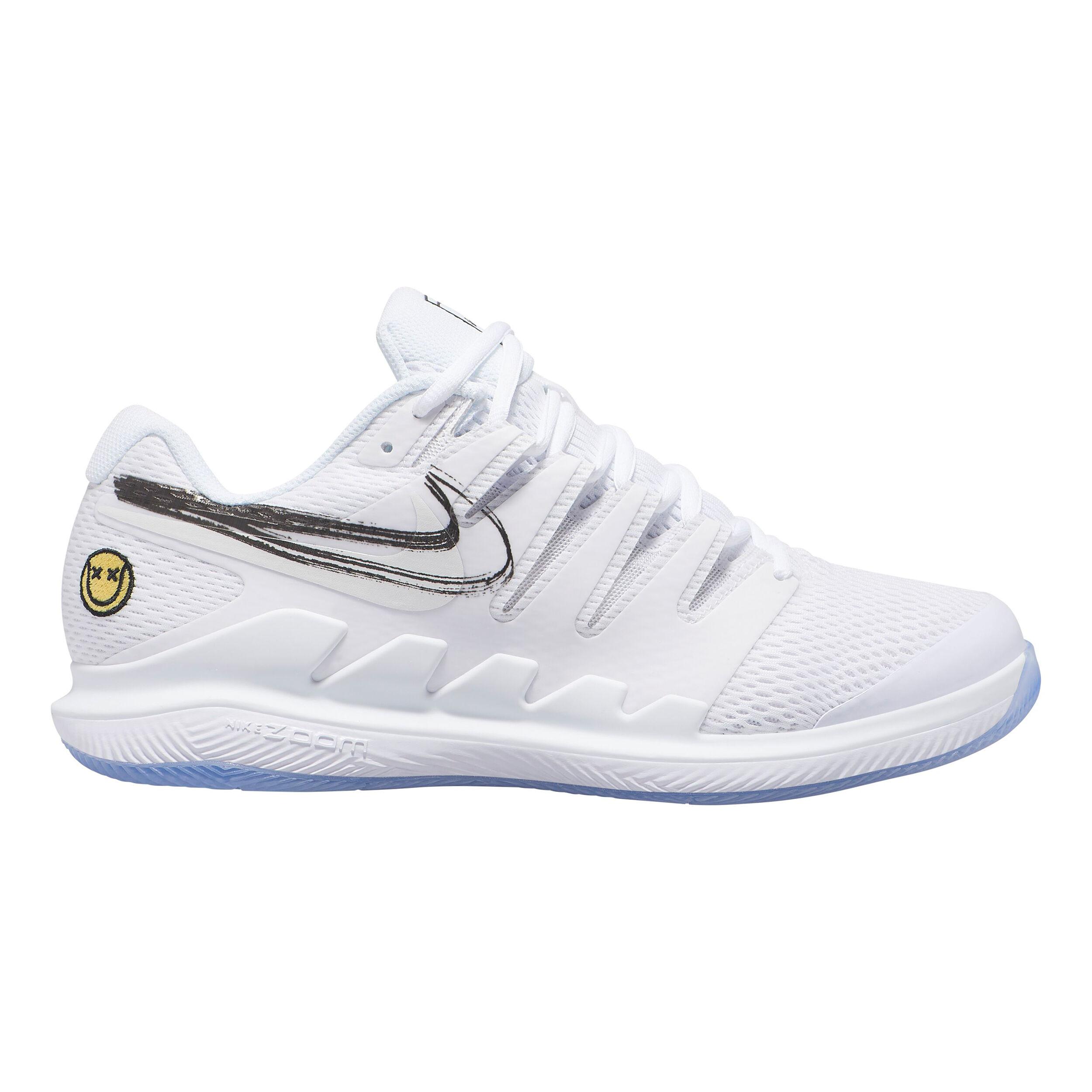 Nike Air Zoom Vapor X HC Allcourt sko Herrer Hvid, Lyseblå