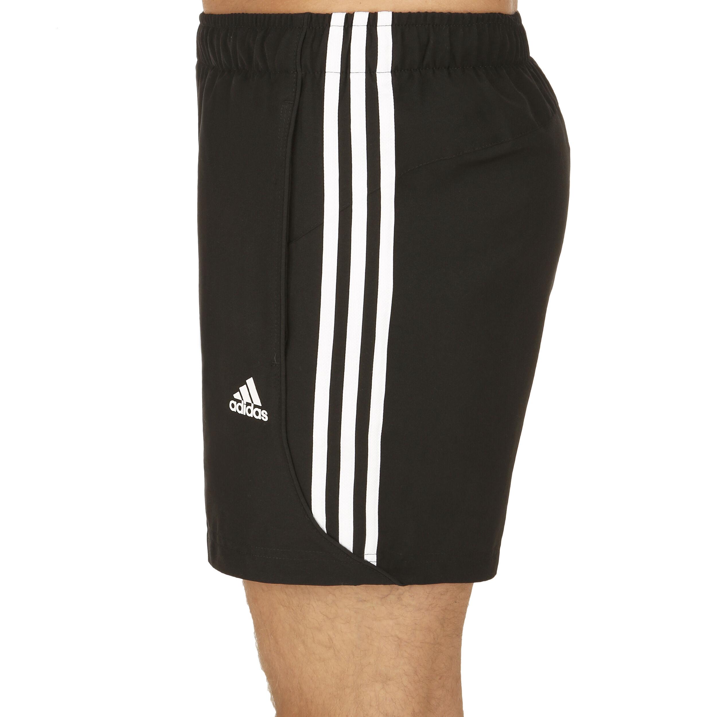 Adidas 3 Stripes Sort Shorts Herre Online