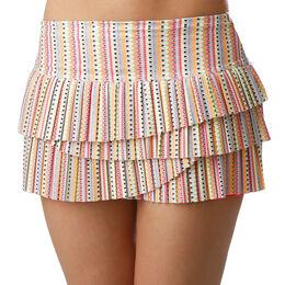 Lit Pleated Scallop Skirt Women