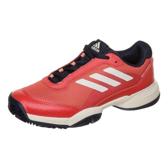 0dae12cbe08 adidas Barricade Club XJ Allcourt-sko Børn - Rød, Hvid