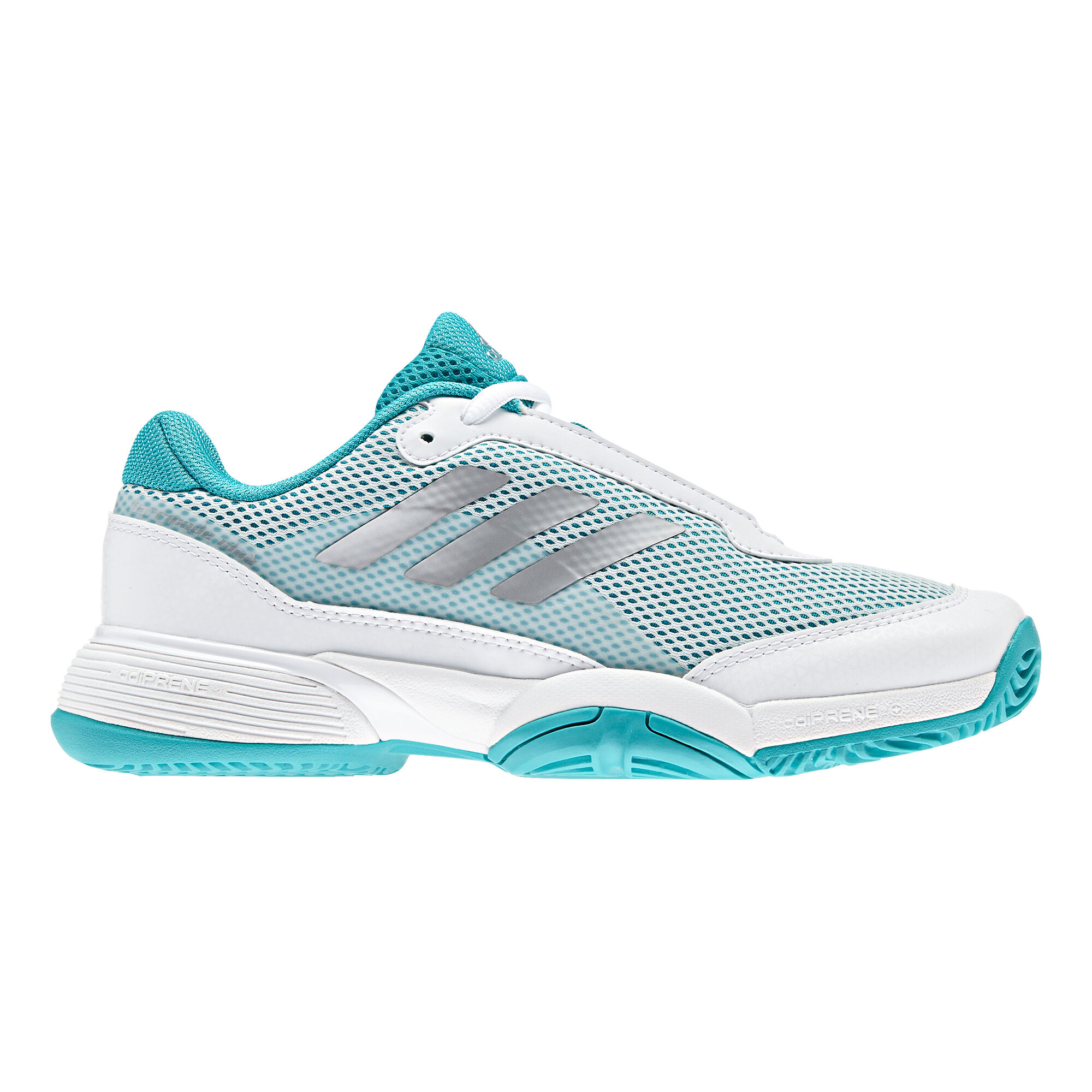 11e77b7866f adidas Barricade Club Allcourt-sko Børn - Hvid, Turkis køb online ...