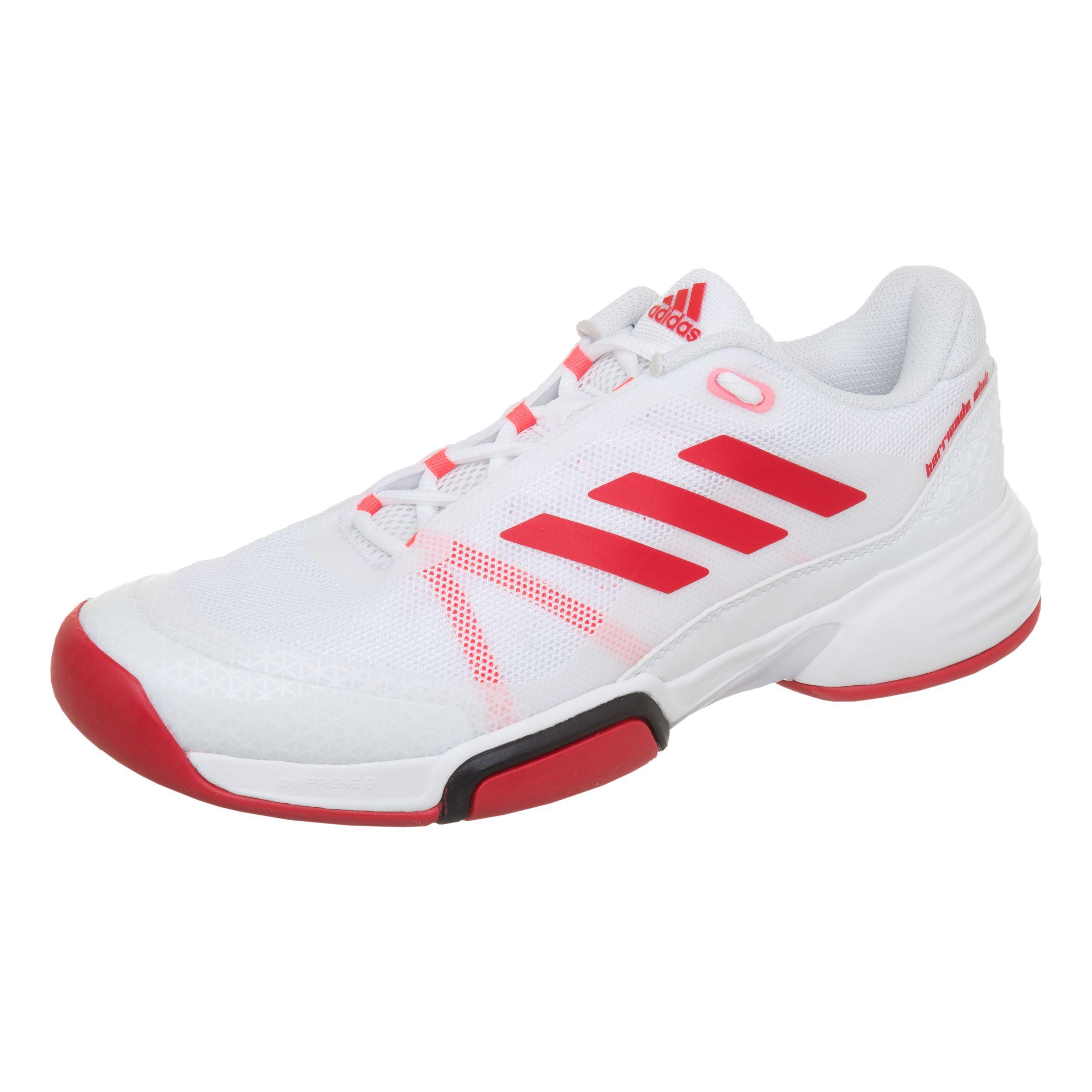 re2163 adidas herre barricade club rød tennissko online