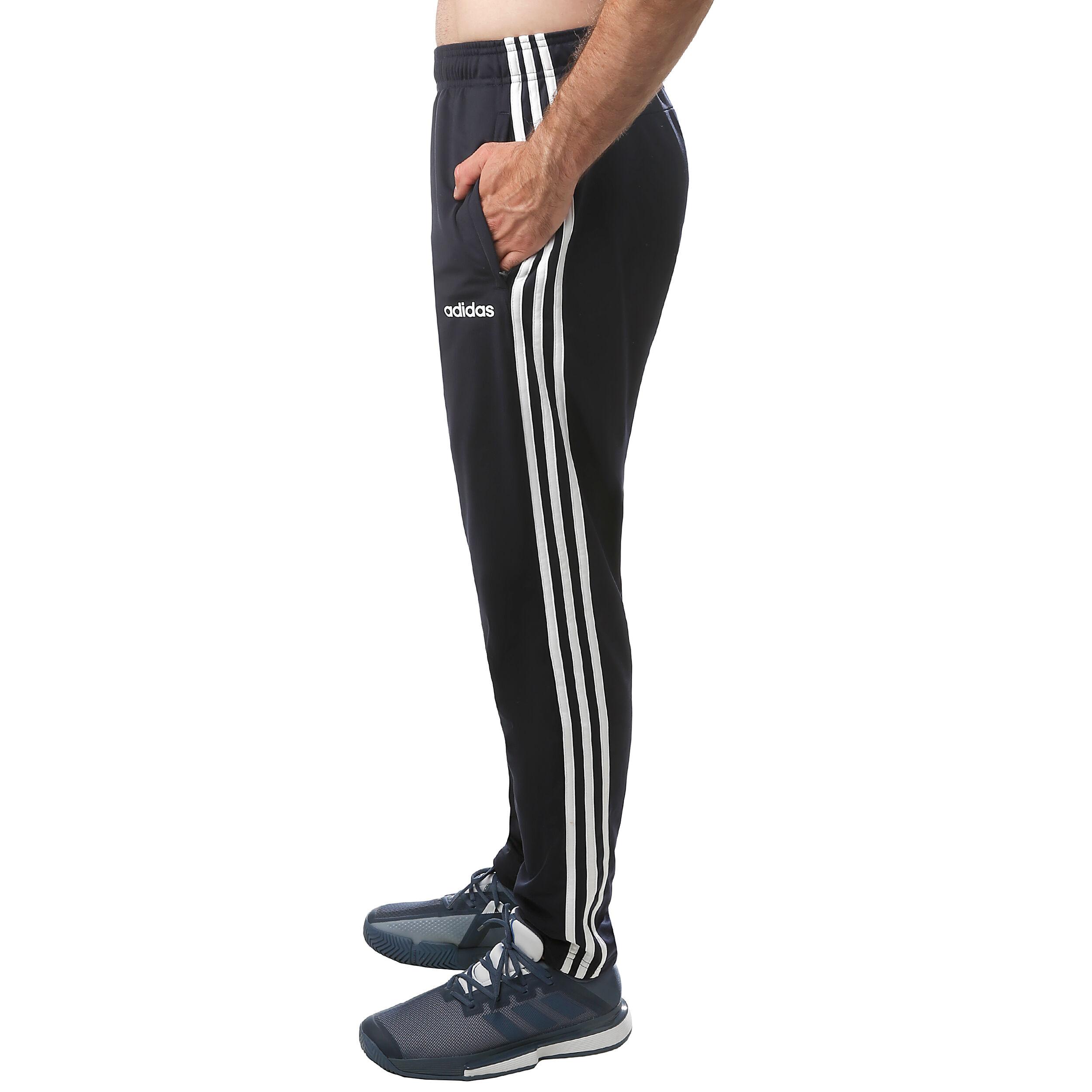 adidas Essentials 3 Stripes Tapered Tricot Træningsbukser Herrer Mørkeblå, Hvid
