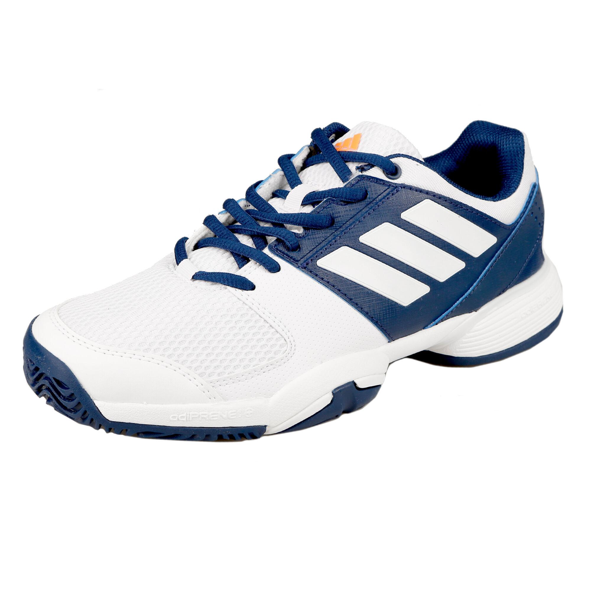 1f56a232 adidas Barricade Club Allcourt-sko Børn - Hvid, Mørkeblå køb online ...