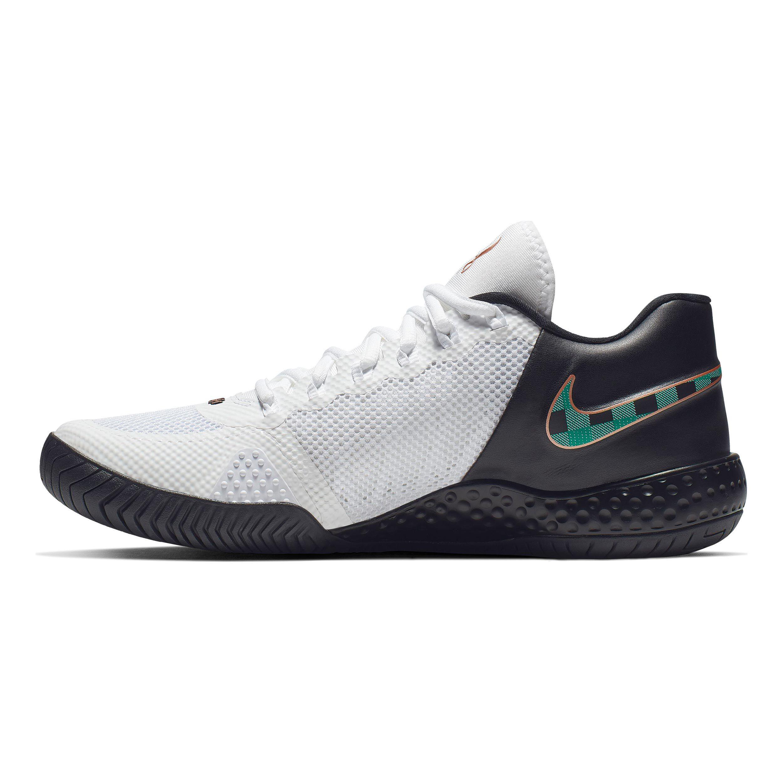 Nike Flare 2 HC Allcourt sko Damer Hvid, Sort køb online