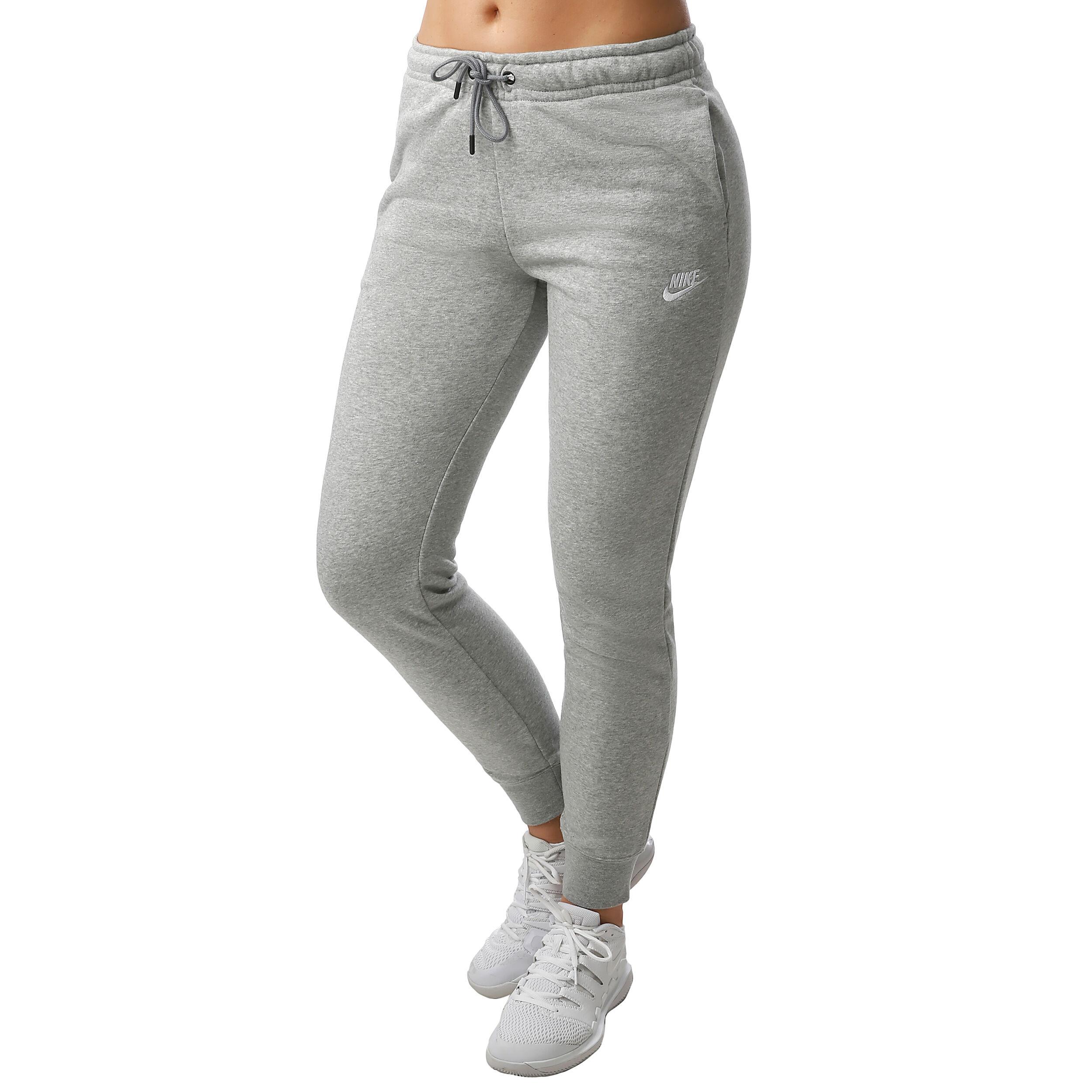 Sportswear Essential Fleece Træningsbukser Damer Lysegrå, Hvid